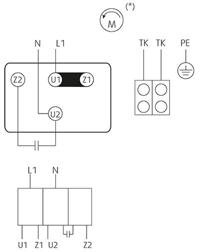 Параметры радиального кухонного вентилятора. Схема KDT 160 E4