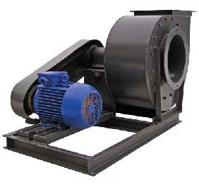 Пылевой радиальный вентилятор исполнение 5